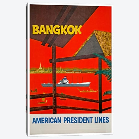 Bangkok, Thailand - American President Lines Canvas Print #LIV37} by Unknown Artist Canvas Artwork