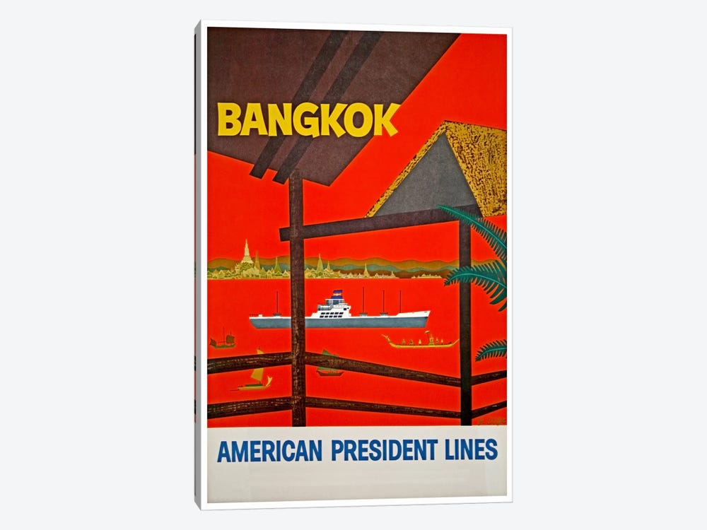 Bangkok, Thailand - American President Lines by Unknown Artist 1-piece Canvas Artwork