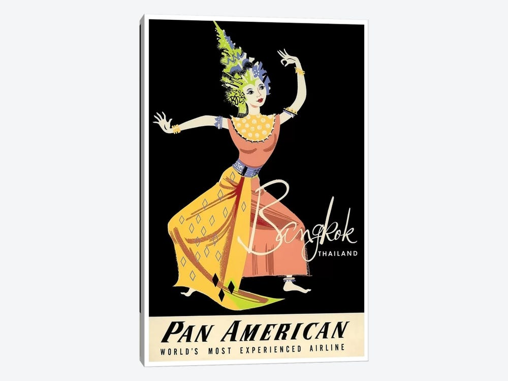 Bangkok, Thailand - Pan American by Unknown Artist 1-piece Canvas Print