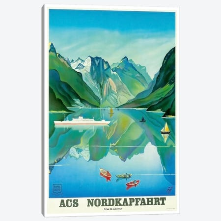 ACS Nordkapfahrt (North Cape Voyage), July 3-16, 1957 Canvas Print #LIV3} Art Print