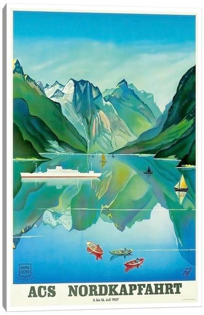 ACS Nordkapfahrt (North Cape Voyage), July 3-16, 1957 Canvas Art Print