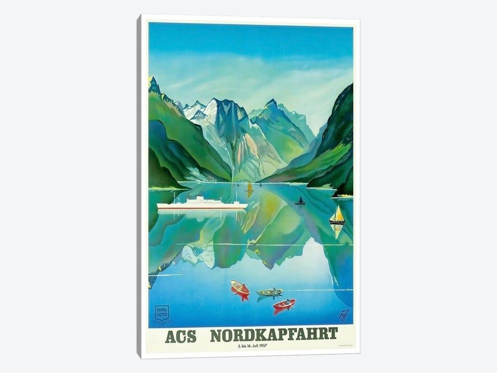 ACS Nordkapfahrt (North Cape Voyage), July 3-16, 1957 by Unknown Artist 1-piece Canvas Art Print
