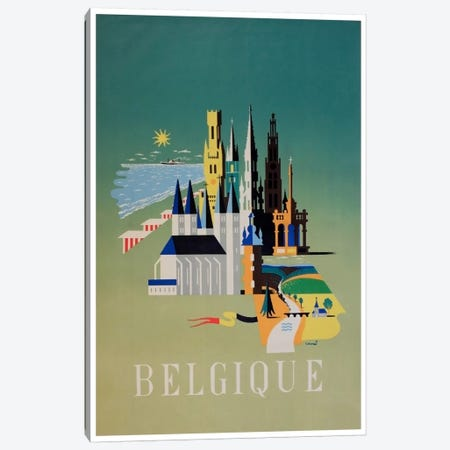 Belgique (Belgium) I Canvas Print #LIV41} by Unknown Artist Canvas Wall Art