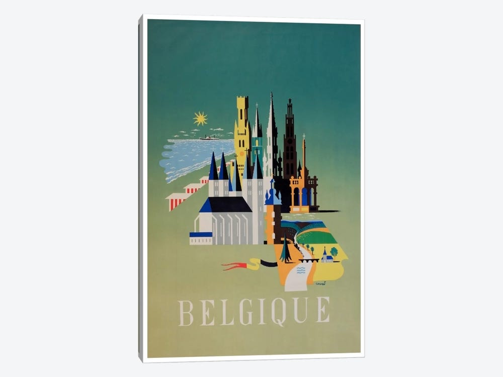 Belgique (Belgium) I 1-piece Canvas Print