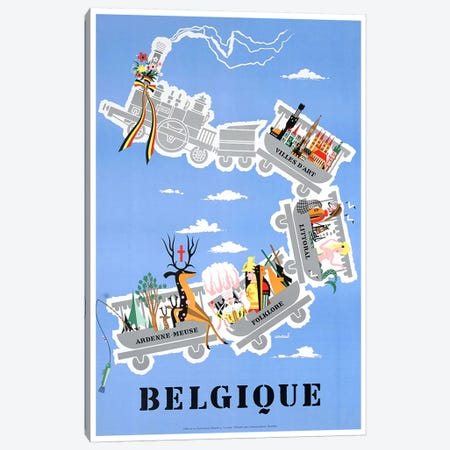 Belgique (Belgium) II Canvas Print #LIV42} by Unknown Artist Canvas Wall Art