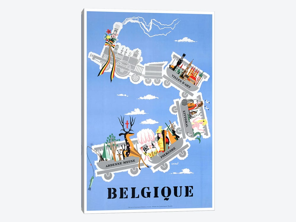 Belgique (Belgium) II by Unknown Artist 1-piece Canvas Artwork