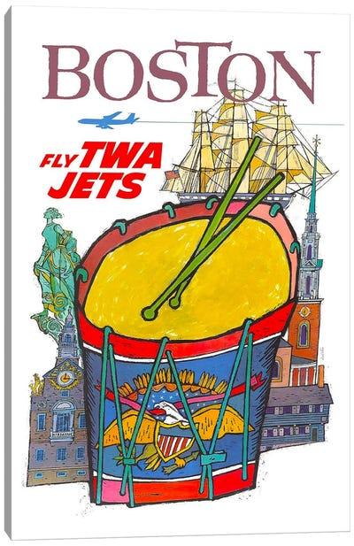 Boston - Fly TWA Canvas Print #LIV45