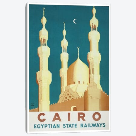 Cairo - Egyptian State Railways Canvas Print #LIV47} by Unknown Artist Canvas Print