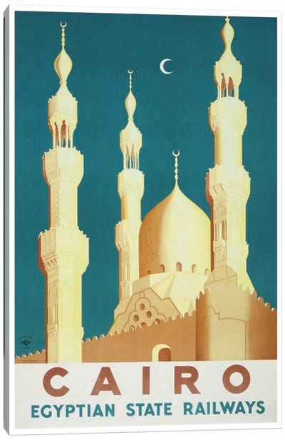 Cairo - Egyptian State Railways Canvas Art Print