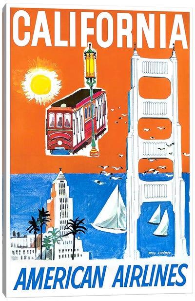 California - American Airlines Canvas Art Print