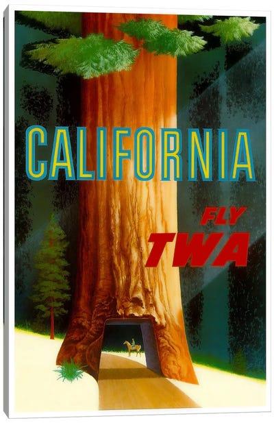 California - Fly TWA Canvas Print #LIV49
