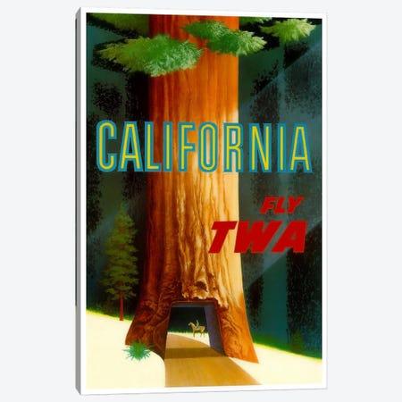 California - Fly TWA Canvas Print #LIV49} by Unknown Artist Canvas Art