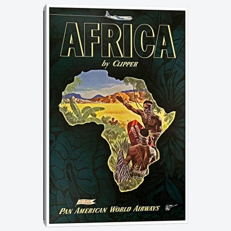 Africa - Pan Am I 3-Piece Canvas #LIV4} by Unknown Artist Canvas Artwork