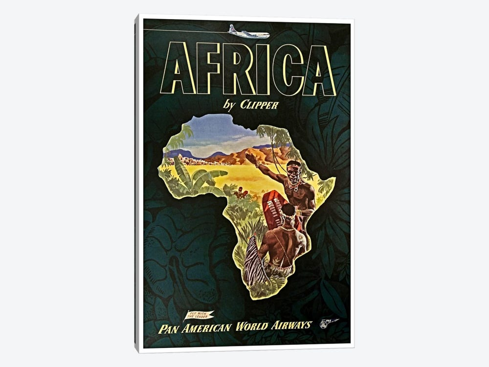 Africa - Pan Am I by Unknown Artist 1-piece Canvas Wall Art