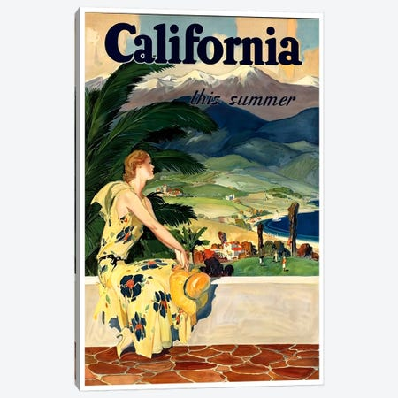California, This Summer Canvas Print #LIV50} by Unknown Artist Canvas Print