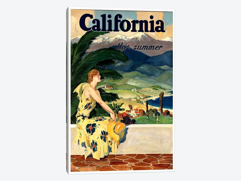 California, This Summer by Unknown Artist 1-piece Canvas Print