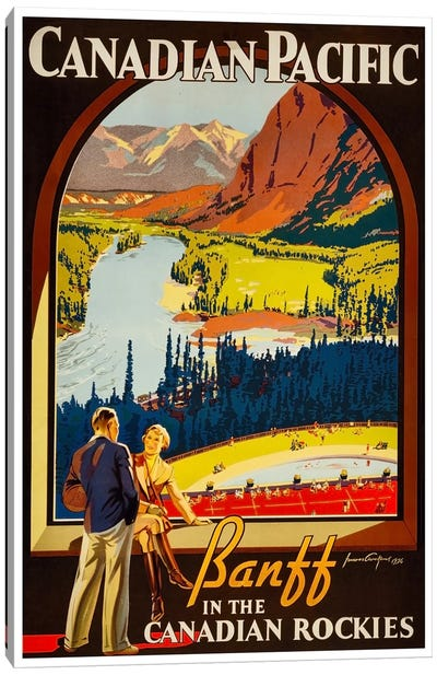 Canadian Pacific: Banff In The Canadian Rockies Canvas Art Print
