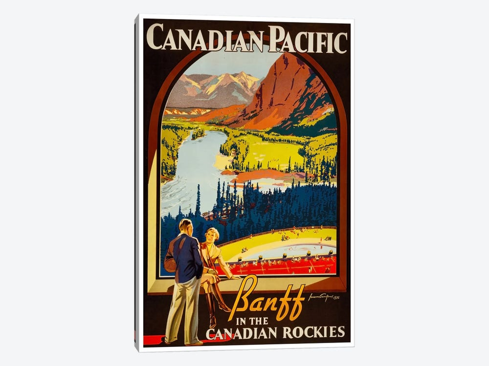 Canadian Pacific: Banff In The Canadian Rockies by Unknown Artist 1-piece Canvas Artwork