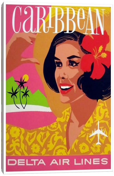 Caribbean - Delta Air Lines Canvas Art Print