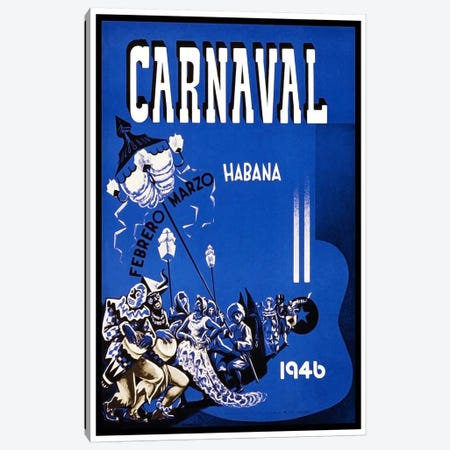 Carnaval: Habana, Febrero-Marzo 1946 Canvas Print #LIV55} by Unknown Artist Canvas Art