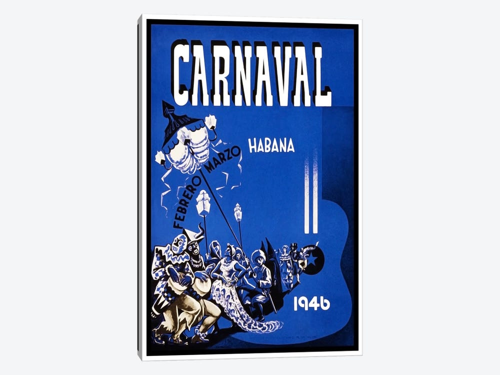 Carnaval: Habana, Febrero-Marzo 1946 by Unknown Artist 1-piece Canvas Art