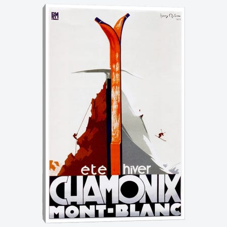 Chamonix-Mont-Blanc I Canvas Print #LIV56} by Unknown Artist Canvas Wall Art