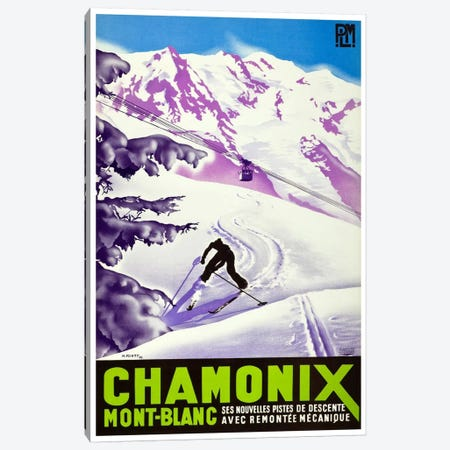 Chamonix-Mont-Blanc II Canvas Print #LIV57} by Unknown Artist Canvas Artwork