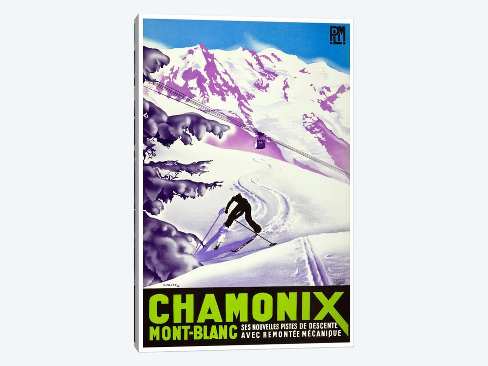 Chamonix-Mont-Blanc II by Unknown Artist 1-piece Canvas Art