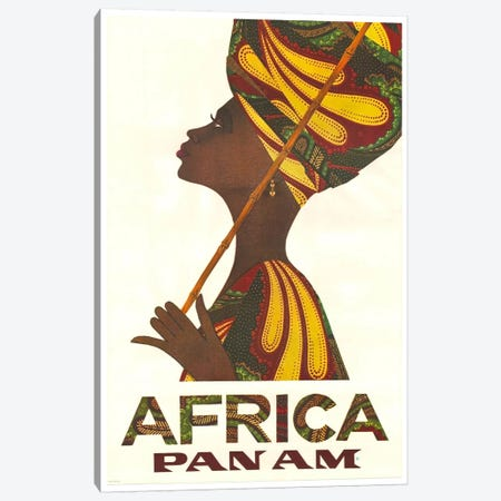 Africa - Pan Am II Canvas Print #LIV5} by Unknown Artist Canvas Artwork