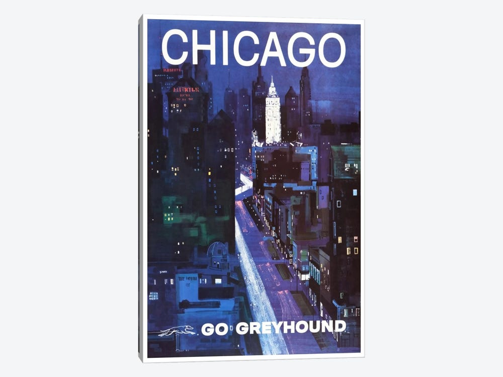 Chicago - Go Greyhound 1-piece Canvas Wall Art