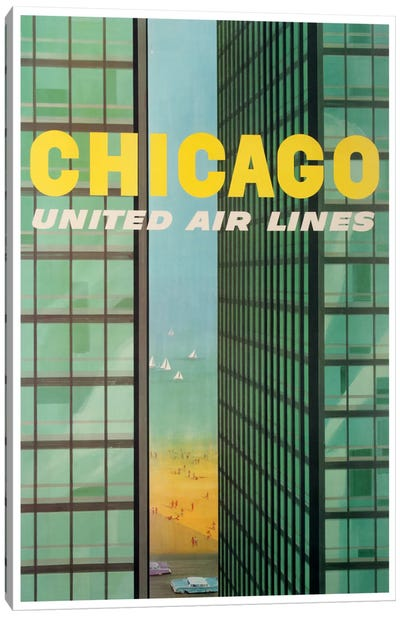 Chicago - United Airlines Canvas Art Print
