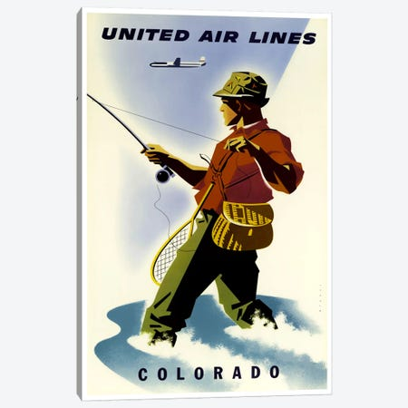 Colorado - United Airlines Canvas Print #LIV62} by Unknown Artist Canvas Wall Art