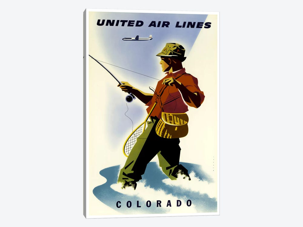 Colorado - United Airlines 1-piece Canvas Art