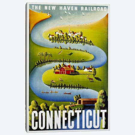 Connecticut: The New Haven Railroad Canvas Print #LIV64} by Unknown Artist Canvas Art Print