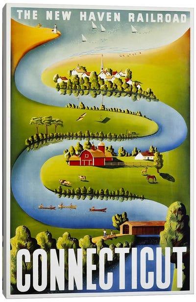 Connecticut: The New Haven Railroad Canvas Art Print
