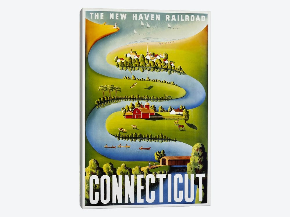 Connecticut: The New Haven Railroad by Unknown Artist 1-piece Canvas Art