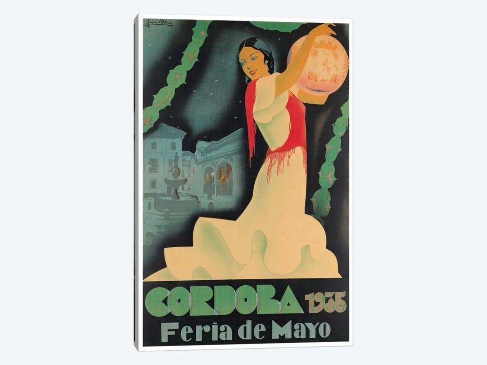 Cordoba Feria de Mayo, 1935 by Unknown Artist 1-piece Canvas Print