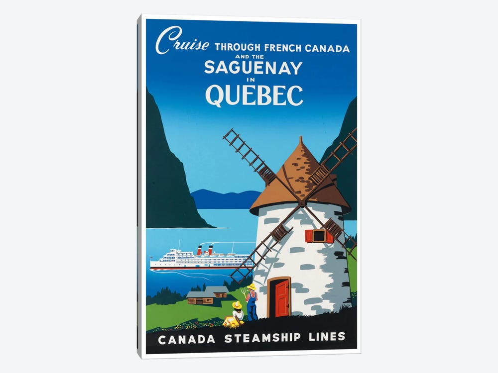 Cruise Through French Canada And The Saguenay In Quebec - Canada Steamship Lines by Unknown Artist 1-piece Canvas Print