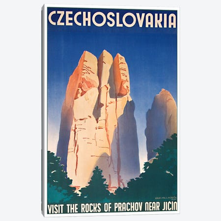 Czechoslovakia: Visit The Rocks Of Prachov Near Jicin Canvas Print #LIV69} by Unknown Artist Canvas Artwork