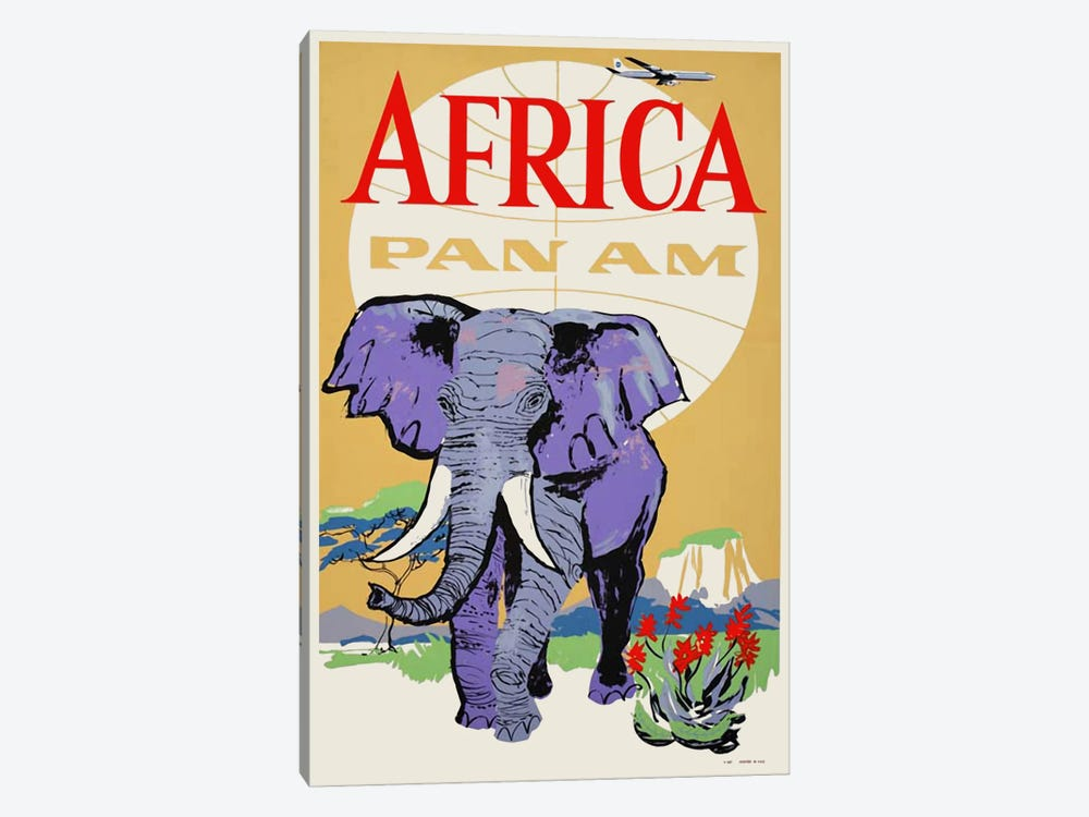Africa - Pan Am III 1-piece Canvas Artwork