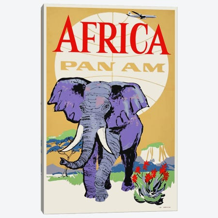 Africa - Pan Am III 3-Piece Canvas #LIV6} by Unknown Artist Canvas Art