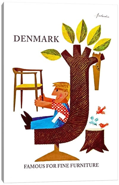 Denmark: Famous For Fine Furniture Canvas Art Print