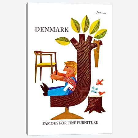 Denmark: Famous For Fine Furniture Canvas Print #LIV71} by Unknown Artist Canvas Art Print