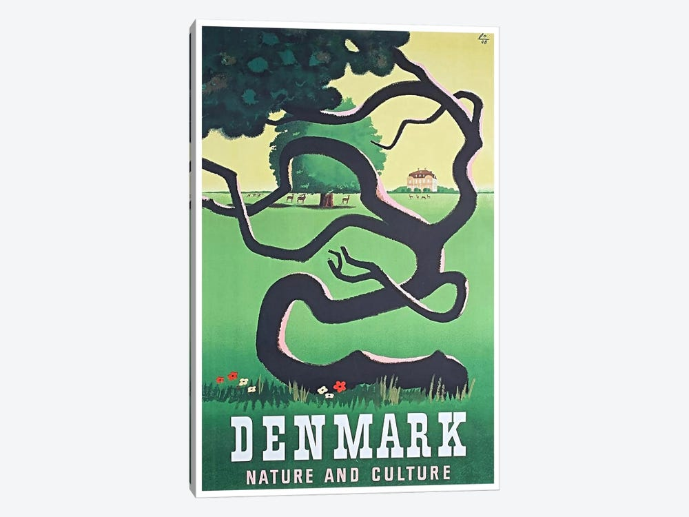 Denmark: Nature And Culture by Unknown Artist 1-piece Canvas Art