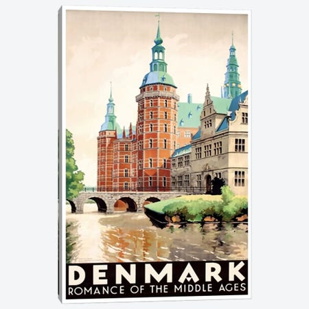 Denmark: Romance Of The Middle Ages Canvas Print #LIV74} by Unknown Artist Canvas Wall Art