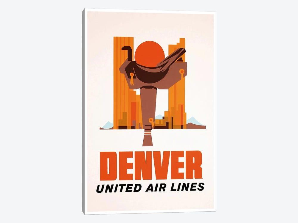Denver - United Airlines by Unknown Artist 1-piece Canvas Artwork