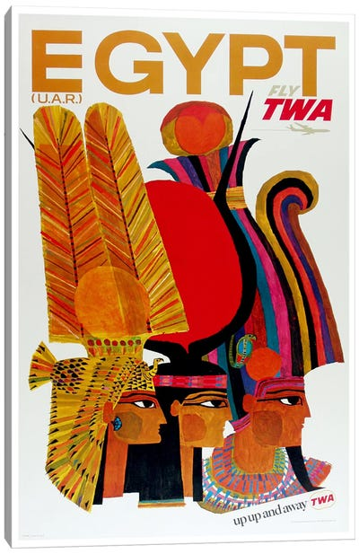 Egypt - Fly TWA Canvas Art Print