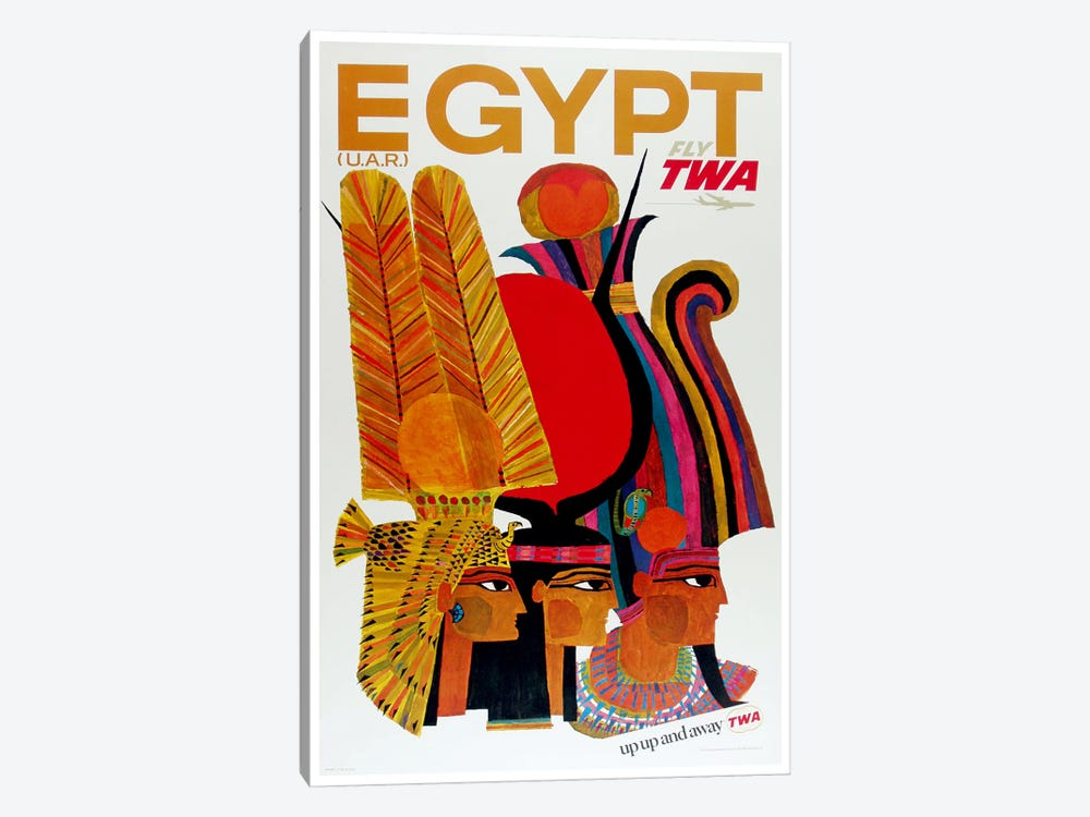 Egypt - Fly TWA by Unknown Artist 1-piece Canvas Wall Art