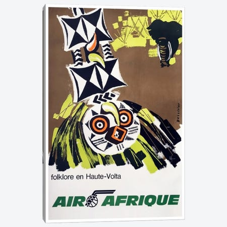 Air Afrique: Folklore En Haute-Volta Canvas Print #LIV7} by Unknown Artist Canvas Art