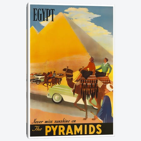 Egypt: Never Miss Sunshine On The Pyramids Canvas Print #LIV83} by Unknown Artist Canvas Wall Art